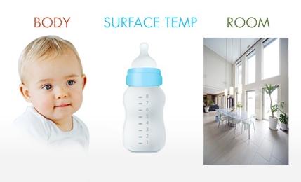 ThermoFlash LX-26 Evolution może być również stosowany do mierzenia temperatury      pokarmu w butelce,     temperatury wody do kąpieli     temperatury pomieszczenia